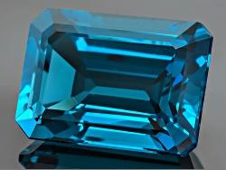 TO023<br>London Blue Topaz  8.00ct Minimum 14x10mm Emerald Cut