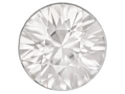 ZWR005<br>Tanzanian White Zircon Min 2.50ct 8mm Round Diamond Cut