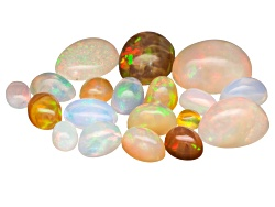 GP5284<br>Parcel Of Ethiopian Opal Minimum 10.00ctw Mixed  Cabochon Sizes And Shapes