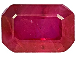 RBE046<br>Burmese Ruby Min .50ct 6x4mm Emerald Cut