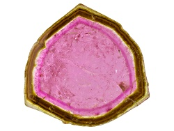 TW033<br>Brazilian Watermelon Tourmaline Min 20.00ct Mm Varies Free Form Slice Color Varies