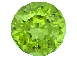 PER091<br>Peridot Min 3.75ct 10mm Round Emanating Star Cut(Tm)