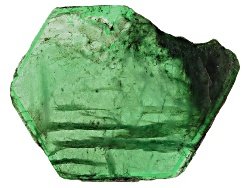 ESL016<br>Brazilian Emerald Min 22.00ct Mm Varies Free Form Polished Slice Shape, Color And Size Wil