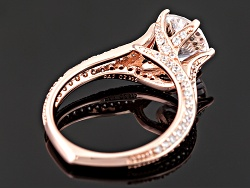 BLD260R<br>Bella Luce (R) Dillenium Cut 5.53ctw, 18k Rose Gold Over Sterling Silver Ring