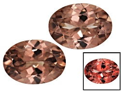 RGV145<br>Masasi Bordeaux Garnet(Tm) Color Shift Matched Pair Of Avg 2.00ctw 7x5mm Oval