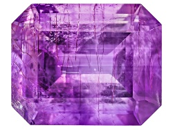 MYE036<br>Moroccan Amethyst With Needles Avg 3.75ct 11x9mm Emerald Cut