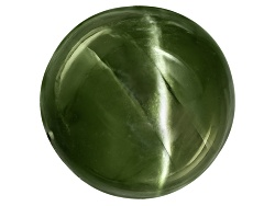 DIR042<br>Russian Cats Eye Chrome Diopside Min 6.00ct Mm Varies Round Cabochon