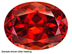 ZNH009<br>Nigerian Thermochromic Zircon 6.72ct 11.5x11.5mm Heart Shape Caution:heat Sensitive