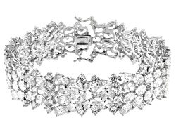 DOCKJ6<br>Bella Luce (R) 73.92ctw Oval & Round Rhodium Plated Sterling Silver Bracelet