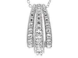 RRB203<br>Remy Rotenier For Bella Luce(R) 2.40ctw Round Rhodium Over Sterling Silver lift Pendant