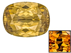ZNC020<br>Yellow Zircon 6.68ct 11.63x8.89mm Cushion Color Varies