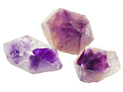 SCK538<br>Moroccan Amethyst Crystal Set Of Three Mm Varies Free Form
