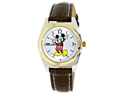 JBW792<br>Disney (R) Ladies Two Tone Brown Strap Mickey Mouse Watch