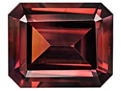 OBG015<br>Tanzanian Red Zircon Min 7.75ct 12x10mm Emerald Cut