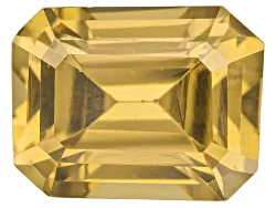 ZNE051<br>Yellow Reserve Zircon Min 3.00ct 9x7mm Emerald Cut Color Varies Caution: Heat Sensitive