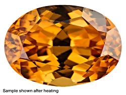 ZNR163<br>Yellow Reserve Zircon Min 2.50ct 8mm Round Color Varies Caution: Heat Sensitive