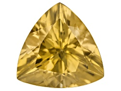 ZN018<br>Yellow Reserve Zircon Min 3.00ct 9mm Trillion Color Varies Caution: Heat Sensitive