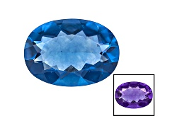 FL029<br>Color Change Blue Fluorite Minimum 5.50ct 14x10mm Oval Mixed Cut