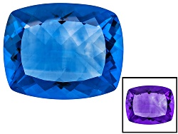 FL076<br>Color Change Blue Fluorite Minimum 46.50ct 25x20mm Rectangular Cushion Mixed Cut