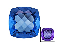 FL089<br>Color Change Blue Fluorite Minimum 20.00ct 16mm Square Cushion Mixed Cut