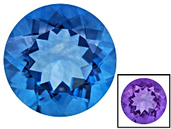 FL102<br>Color Change Blue Fluorite Minimum 16.00ct 16mm Round Mixed Cut