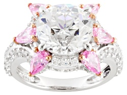 RRB269<br>Remy Rotenier For Bella Luce (R) 9.94ctw Remy Cut Rhodium Over Silver pink Sunburst Ring
