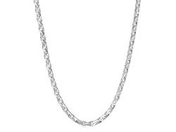 SVR409A<br>Sterling Silver Knife Edge 2.5mm Forzantina Link 18 Inch Chain Necklace