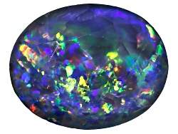 OP297<br>Australian Opal Triplet 10x8mm Oval Faceted