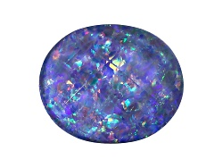 OP304<br>Australian Opal Triplet 12x10mm Oval Checkerboard Top