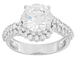 BJO535<br>Bella Luce (R) 5.30ctw Rhodium Over Sterling Silver Ring (3.47ctw Dew)