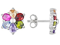 BJQ273<br>Bella Luce (R) 2.73ctw Multicolor Gemstone Simulants Rhodium Over Sterling Silver Earrings
