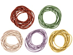 JMKIT055B<br>Spring Fashion Metallic Clrs Rd Leather Cord Kit Incl 2mm Cord Lawn, Gold, Red, Chandni