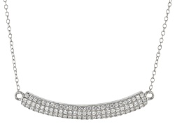 DOCLY6<br>Bella Luce (R) 1.35ctw Rhodium Over Sterling Silver Necklace