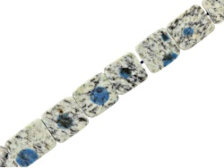 JLW9149<br>Azurite In Granite Matrix Appx 8x12x14mm Slices Bead Strand Appx 8